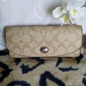 Coach Peyton Signature Envelope Wallet with Pouch